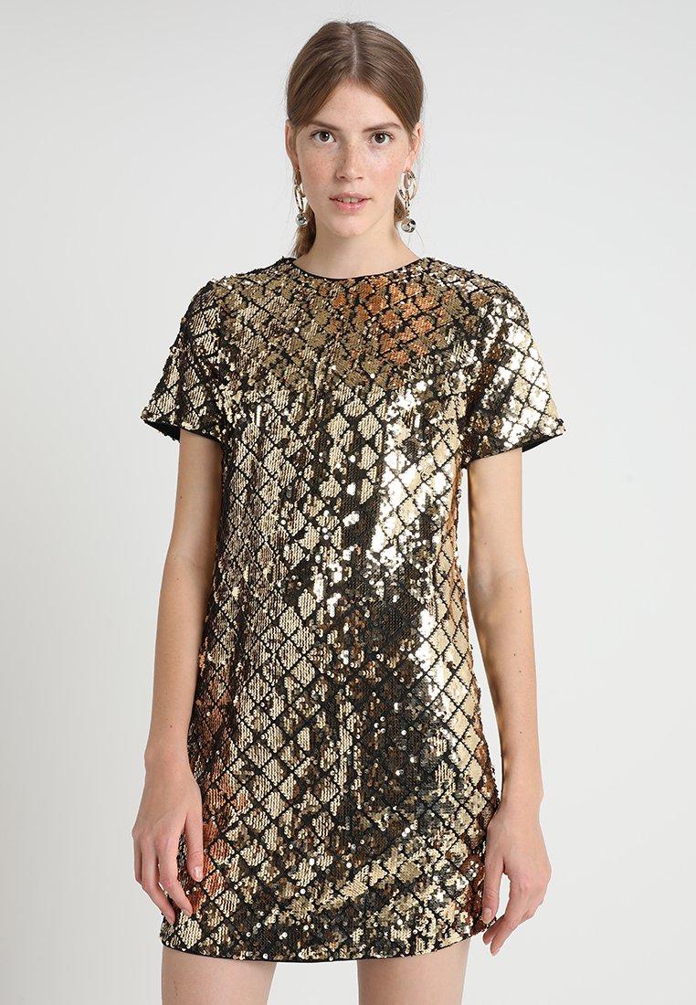 Dorothy Perkins - SEQUIN SHIFT - Robe de soirée - gold