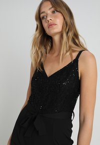 Dorothy Perkins - GLITTER  STRAPPY - Jumpsuit - black