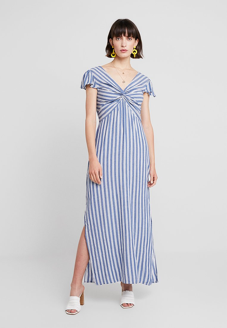 Dorothy Perkins - TWIST FRONT STRIPE DRESS - Maxi dress - blue/ivory
