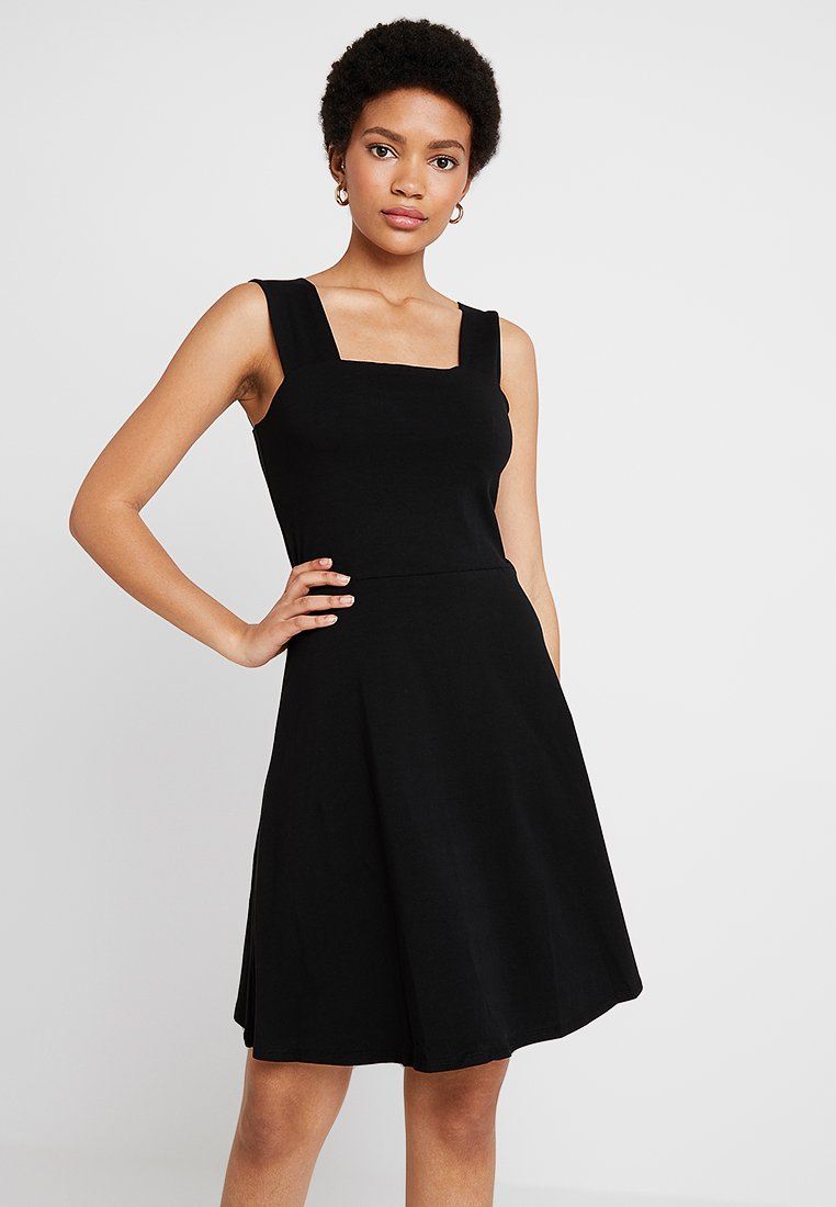 Dorothy Perkins - PLAIN SQUARE NECK - Vestido ligero - black