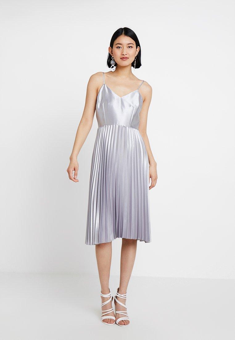 Dorothy Perkins - WRAP BODICE DRESS - Cocktailkleid/festliches Kleid - silver