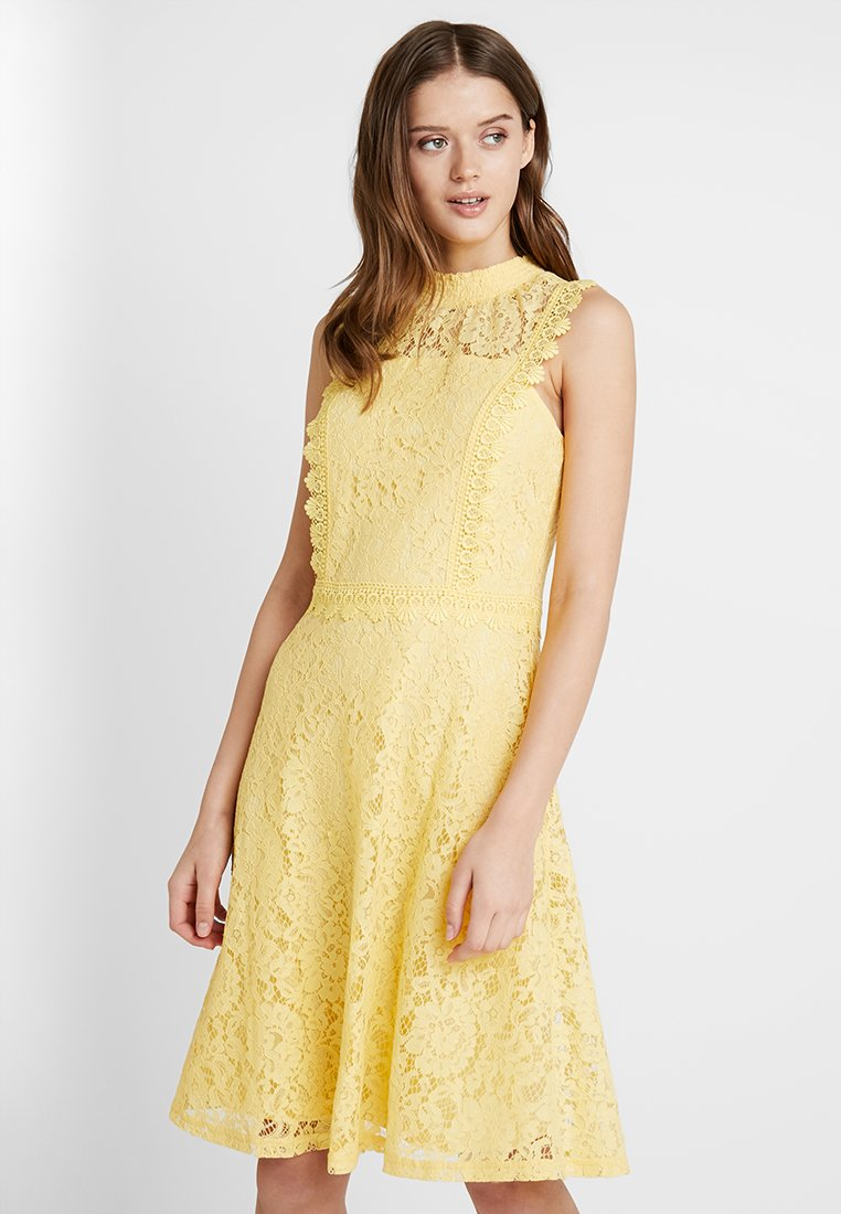 Dorothy Perkins - FIT AND FLARE - Cocktailkleid/festliches Kleid - yellow