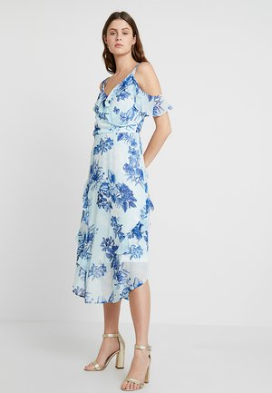 COLD SHOULDER PRINTED - Vestito estivo - blue