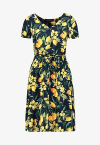 Dorothy Perkins - BUTTON THROUGH FIT AND FLARE - Abito a camicia - yellow - 3