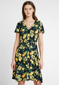 Dorothy Perkins - BUTTON THROUGH FIT AND FLARE - Abito a camicia - yellow - 0