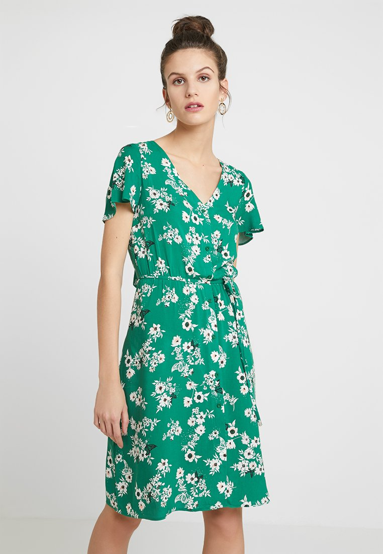 Dorothy Perkins - BUTTON THROUGH FIT AND FLARE - Blusenkleid - green