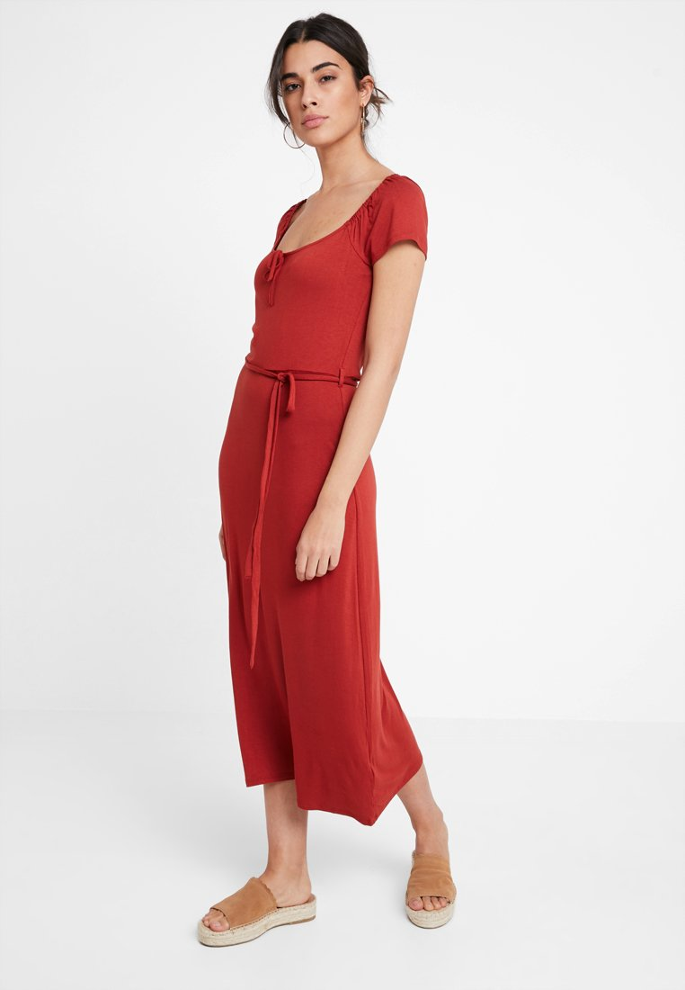 Dorothy Perkins - NECK PLAIN  - Maxikjoler - terracotta