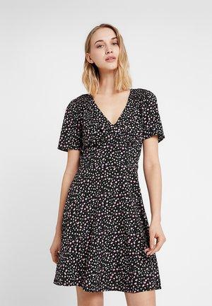 DITSY TEA DRESS LAURA - Denní šaty - black