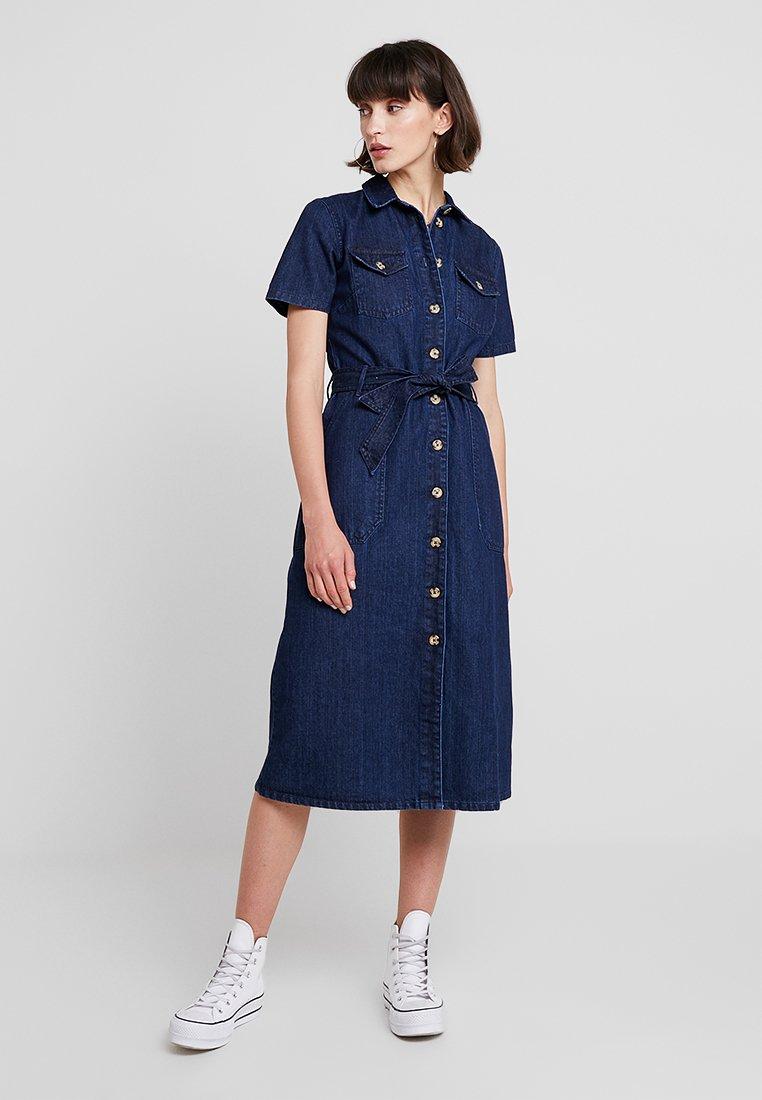 Dorothy Perkins - SAFARI DRESS - Vestido largo - blue denim