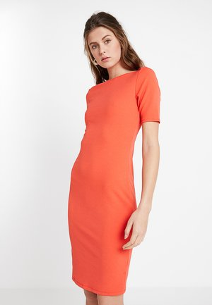 SHORT SLEEVE BODYCON - Fodralklänning - new orange