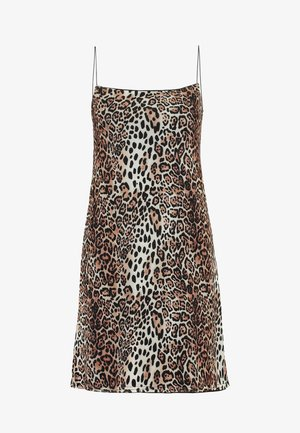 LEOPARD CAMI DRESS - Denní šaty - brown/offwhite
