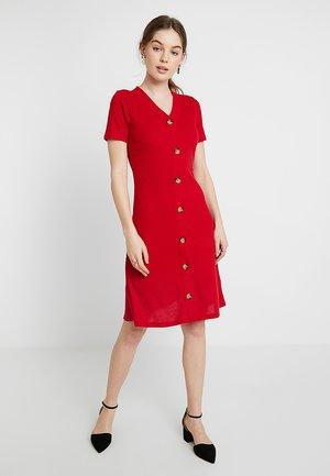 BUTTON - Jumper dress - red