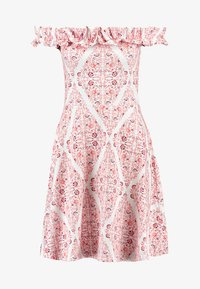 Dorothy Perkins - PRINT BARDOT - Vestito di maglina - white - 3
