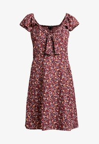 Dorothy Perkins - TIE FRONT DRESS - Vestido informal - burgundy