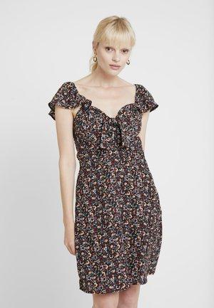 TIE FRONT DRESS - Denní šaty - black