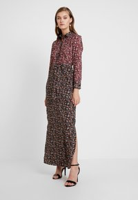 Dorothy Perkins - DRESS - Maxi dress - black burgundy - 2