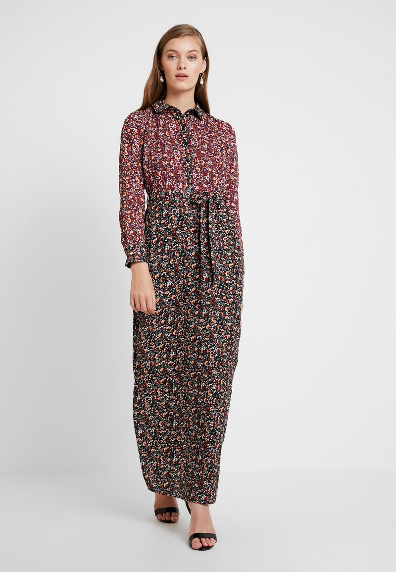 Dorothy Perkins - DRESS - Maxi dress - black burgundy