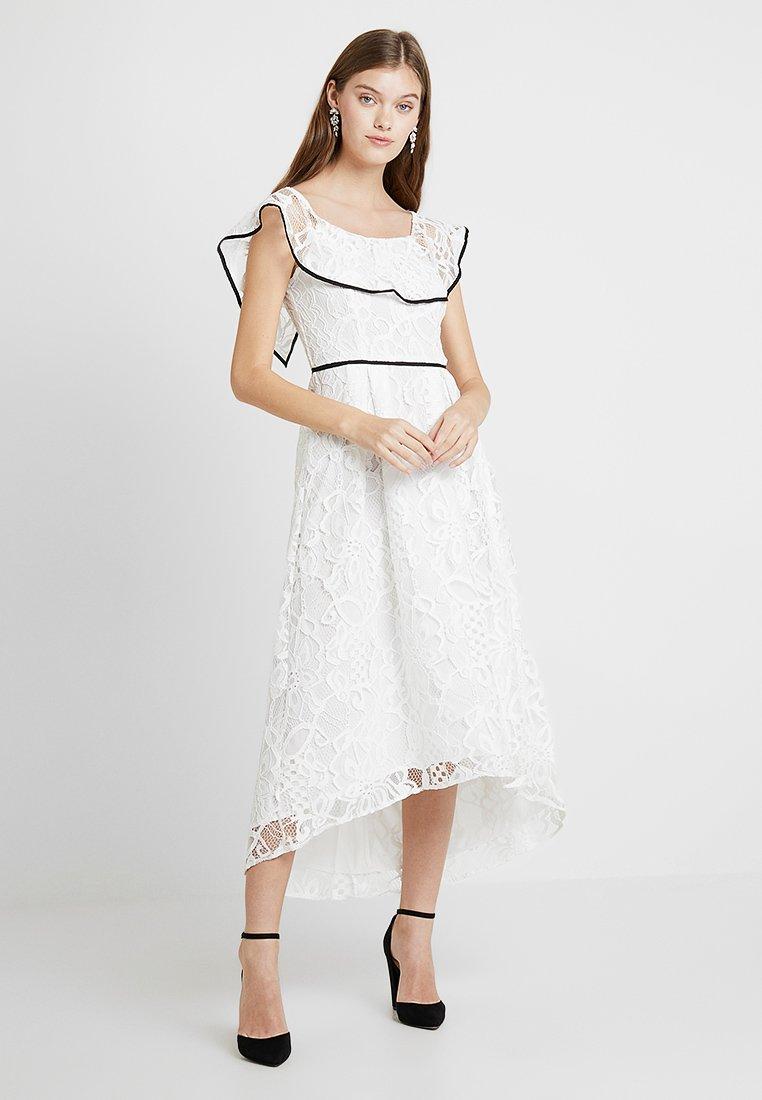 Dorothy Perkins - TIPPED BARDOT DRESS - Cocktailkleid/festliches Kleid - off white