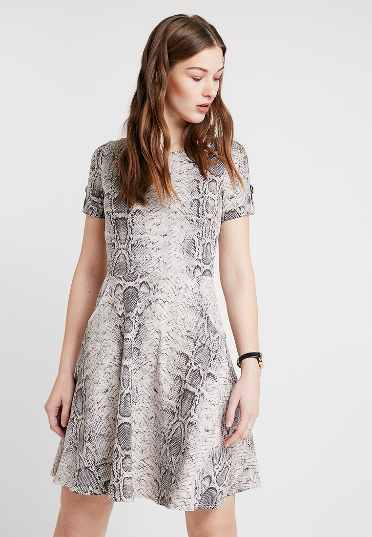 Dorothy Perkins - SNAKE DRESS - Jerseykleid - grey
