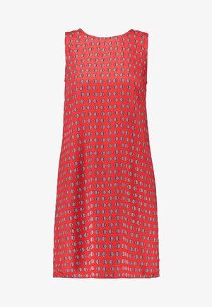 SLEEVELESS TIE SHIFT - Day dress - red