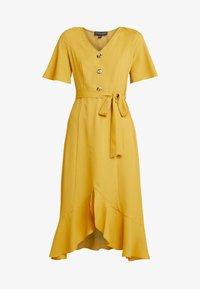 Dorothy Perkins - RUFFLE FRONT MIDI DRESS - Skjortklänning - ochre - 5
