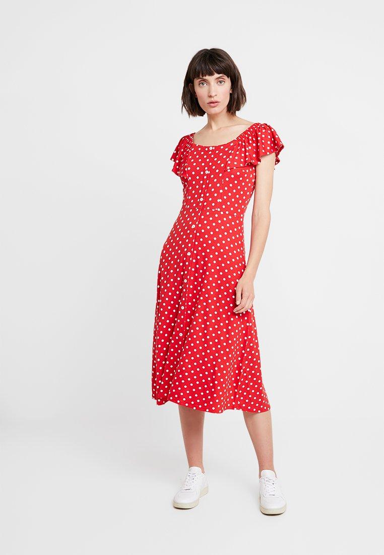 Dorothy Perkins - SPOT BARDOT DRESS - Jerseykjoler - red
