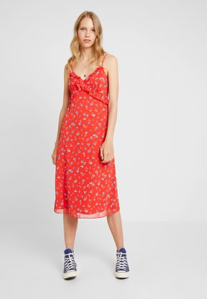 DITSY STRAP MIDI - Day dress - red