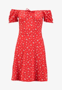 Dorothy Perkins - DITSY SCOOP NECK GYPSY DRESS - Robe en jersey - red - 5