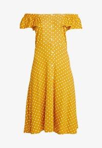 Dorothy Perkins - SPOT BARDOT DRESS - Jerseyklänning - ochre - 5