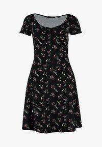 Dorothy Perkins - DITSY SCOOP NECK GYPSY DRESS - Denní šaty - black - 4