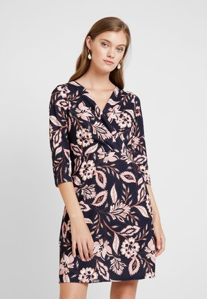 WRAP DRESS BODYCON - Trikoomekko - navy revival