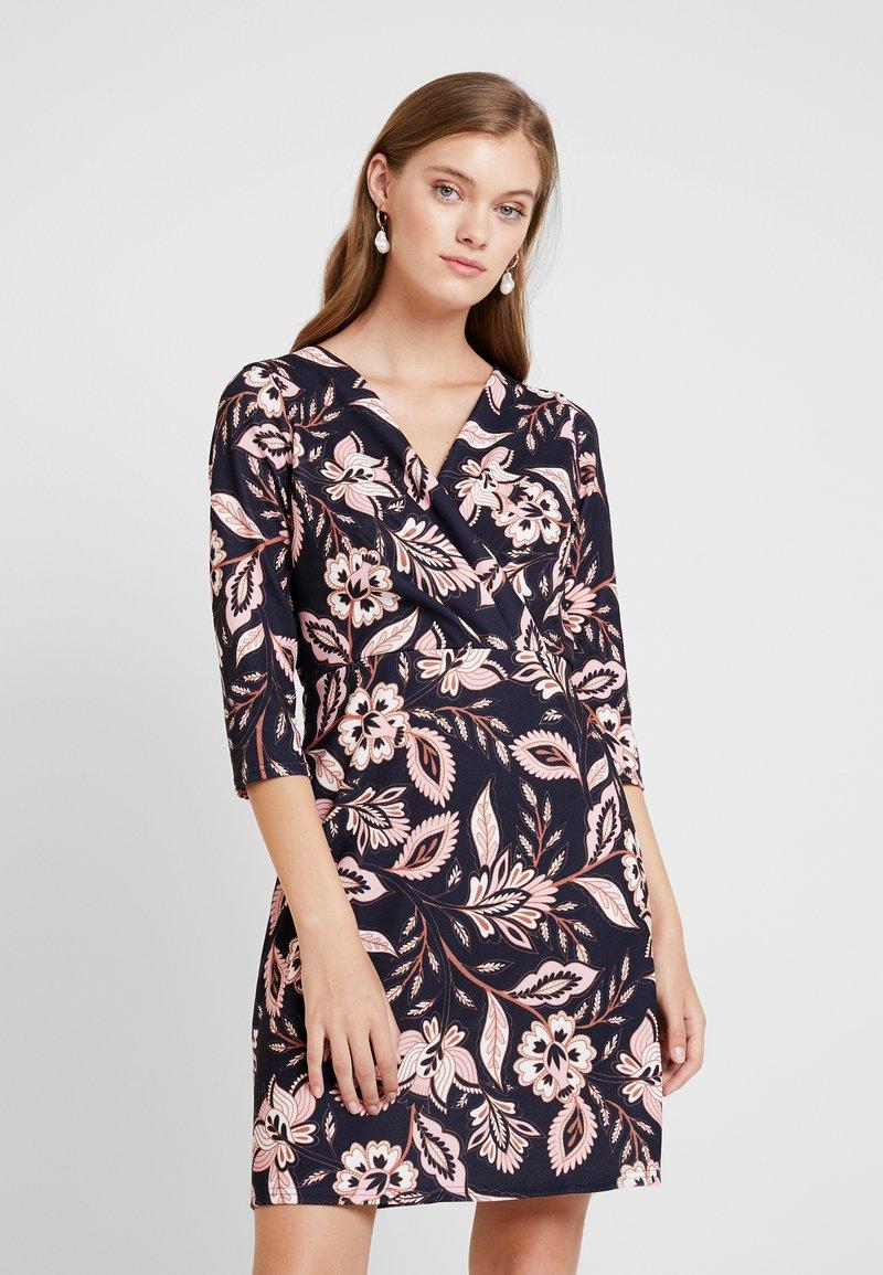 Dorothy Perkins - WRAP DRESS BODYCON - Jersey dress - navy revival