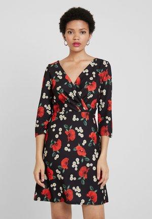 WRAP DRESS BODYCON - Jerseyklänning - daisy poppy