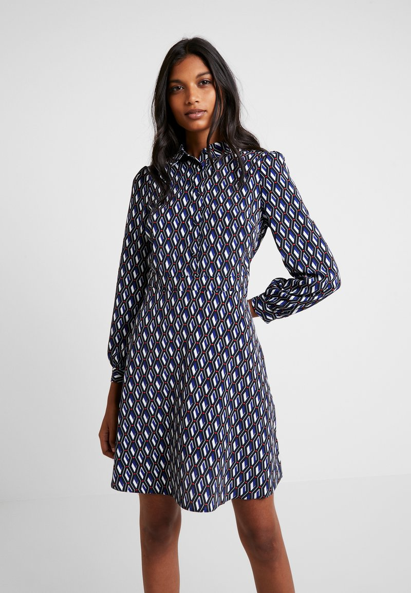 Dorothy Perkins - SELF COVERED BUTTON FIT FLARE DRESS - Blusenkleid - multi