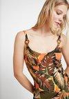 Dorothy Perkins - LEAF STRAPPY SEAM FIT FLARE - Jersey dress - orange