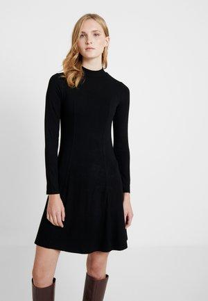 HIGH NECK SWING DRESS - Trikoomekko - black