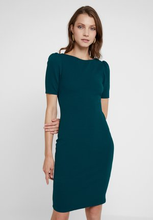 PUFF SLEEVE BODYCON - Pouzdrové šaty - green