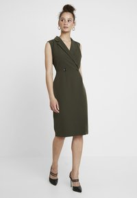 Dorothy Perkins - WRAP TUX SLEEVELESS DRESS - Shift dress - green - 1