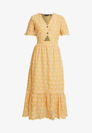TIE FRONT TIER DRESS - Day dress - ochre