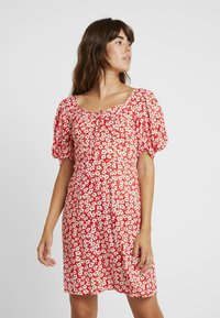Dorothy Perkins - FLORAL DITSY TEA DRESS - Vestido informal - red - 0