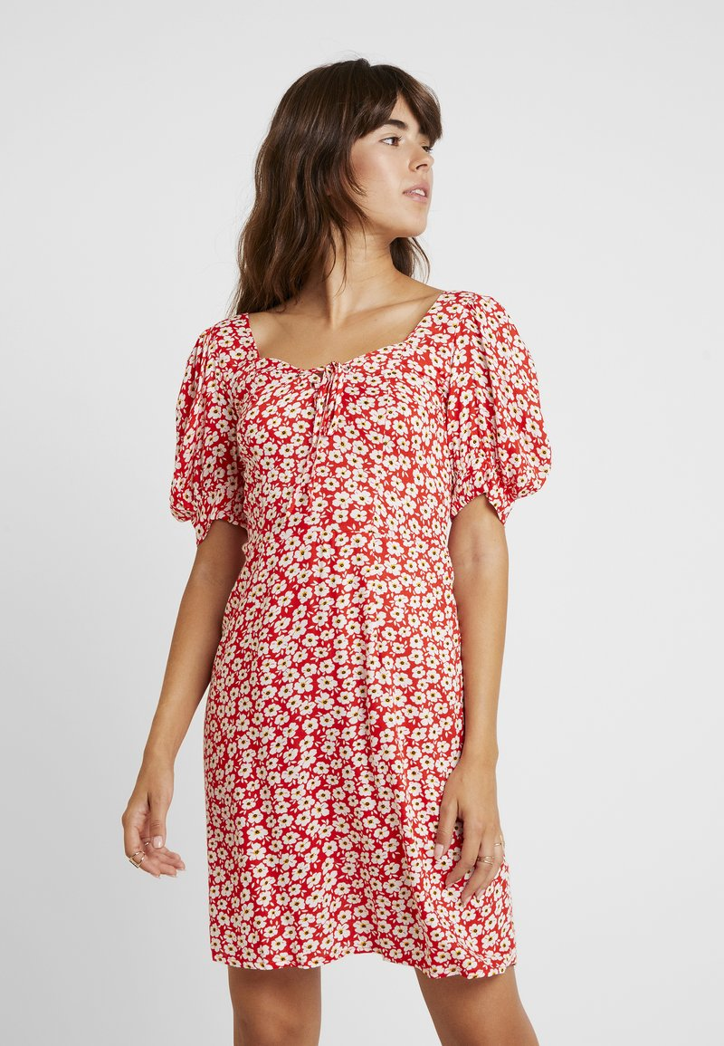 Dorothy Perkins - FLORAL DITSY TEA DRESS - Vestido informal - red