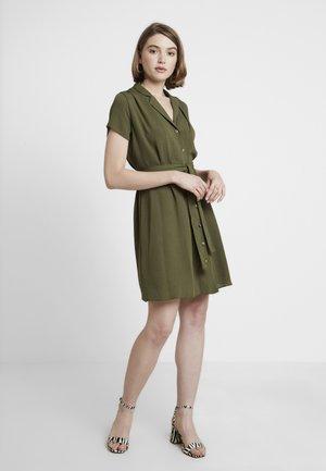PLAIN DRESS - Košilové šaty - khaki