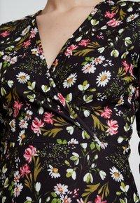 Dorothy Perkins - RUCHED SLEEVE SKATER DRESS - Jerseyklänning - multi coloured - 6