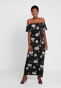 Dorothy Perkins - FLORAL DITSY BARDOT - Maxi šaty - black - 0