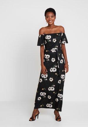 FLORAL DITSY BARDOT - Robe longue - black