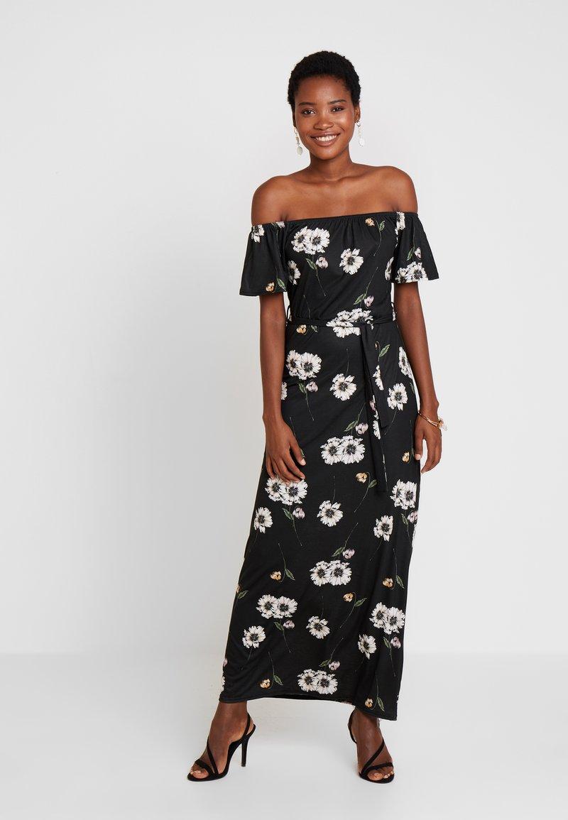 Dorothy Perkins - FLORAL DITSY BARDOT - Maxi šaty - black