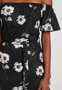 Dorothy Perkins - FLORAL DITSY BARDOT - Maxi šaty - black - 6