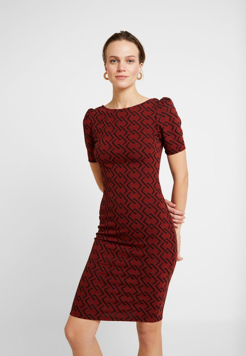 Dorothy Perkins - SQUARE BODYCON - Etuikleid - red
