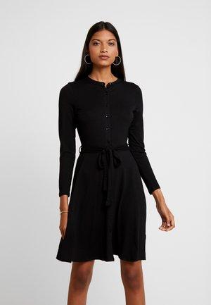 SHIRT DRESS - Trikoomekko - black