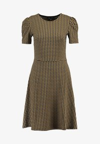Dorothy Perkins - PUFF SLEEVE DOGTOOTH FIT & FLARE - Jerseyjurk - brown - 5